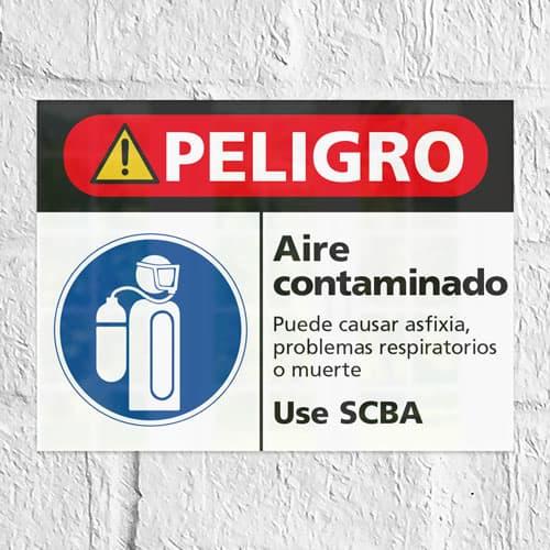 Señal Peligro Aire Contaminado H