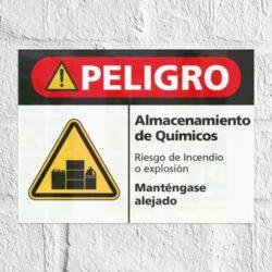 Señal Peligro Almacenamiento de Químicos H