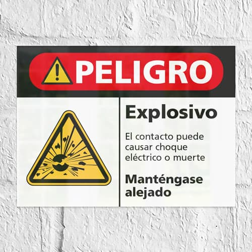 Señal Peligro Explosivo H