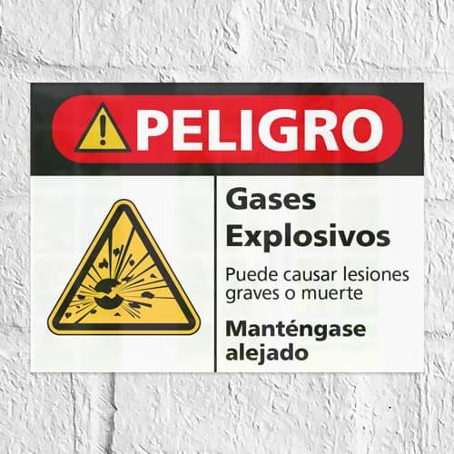 Señal Peligro Gases Explosivos H