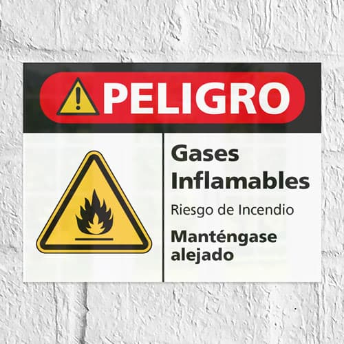 Señal Peligro Gases Inflamables H