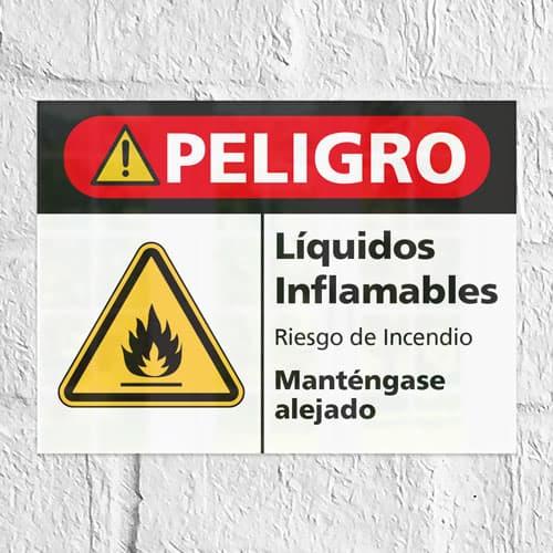 Señal Peligro Líquidos Inflamables H