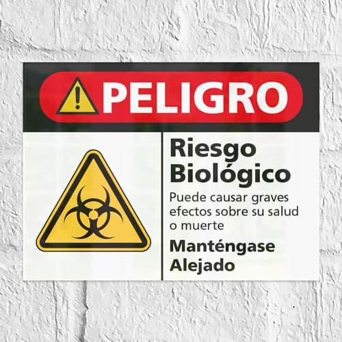 Señal Peligro Riesgo Biológico H