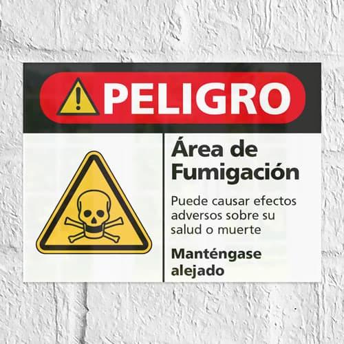 Señal Peligro Área de Fumigación H