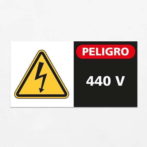 Señal Peligro 440 V H