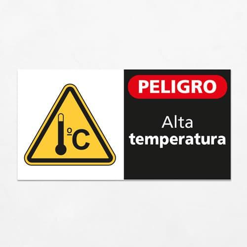 Señal Peligro Alta Temperatura H