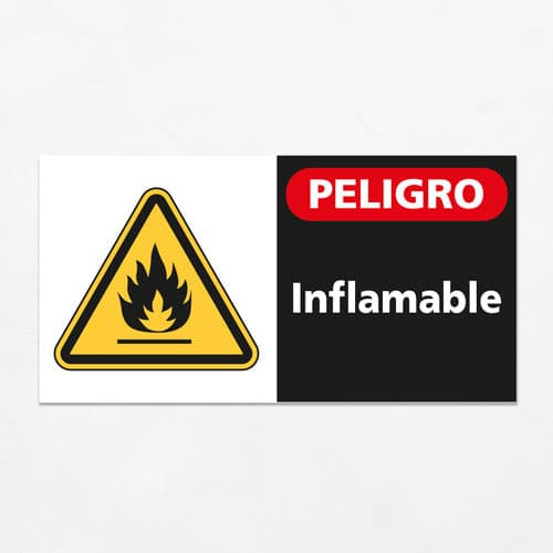 Señal Peligro Inflamable H