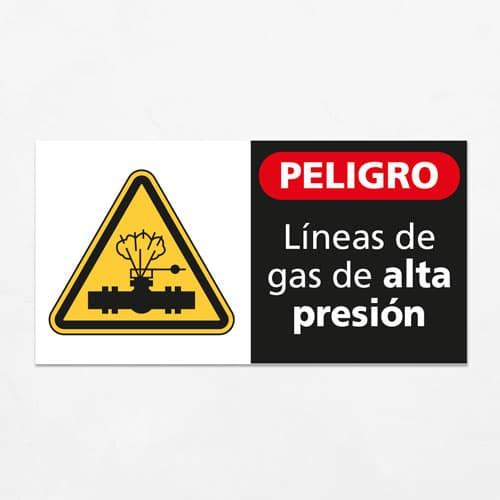 Señal Peligro Líneas de Gas de Alta Presión H