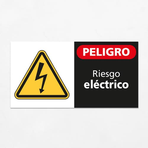 Señal Peligro Riesgo Eléctrico H