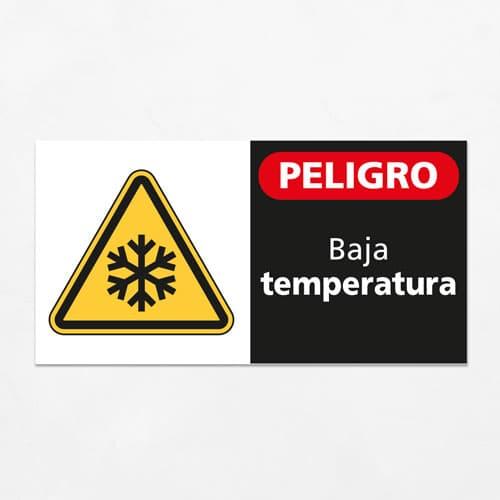 Señal Peligro Baja Temperatura H