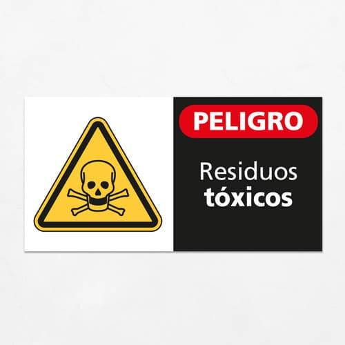 Señal Peligro Residuos Tóxicos H