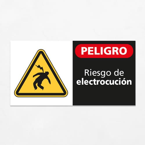 Señal Peligro Riesgo de Electrocución H