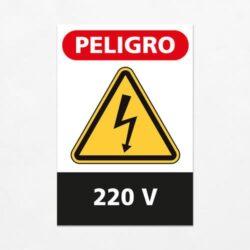 Señal Peligro 220 V V