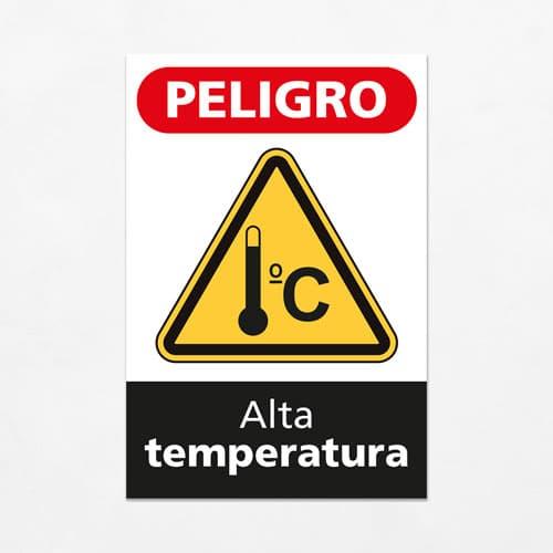 Señal Peligro Alta Temperatura V