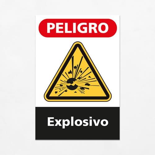 Señal Peligro Explosivo V