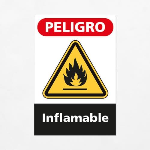 Señal Peligro Inflamable V