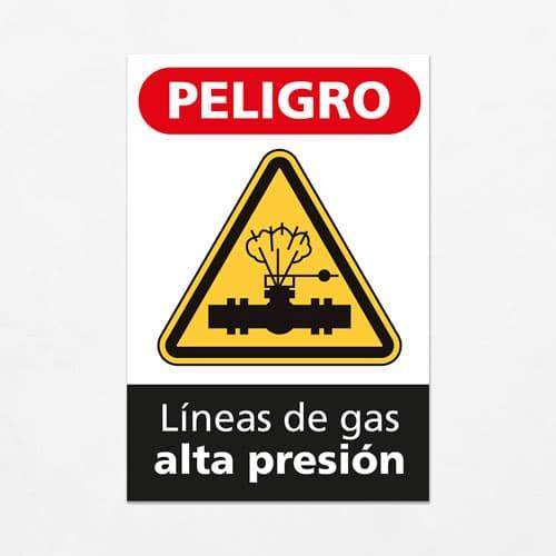 Señal Peligro Líneas de Gas Alta Presión V