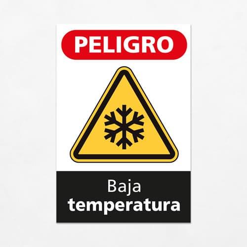 Señal Peligro Baja Temperatura V