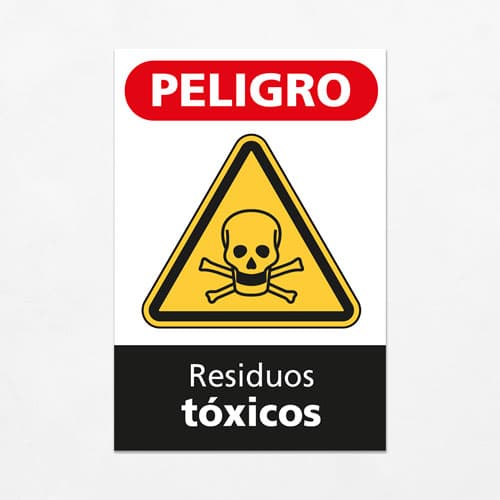Señal Peligro Residuos Tóxicos V