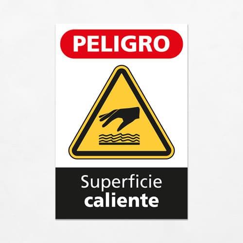 Señal Peligro Superficie Caliente V