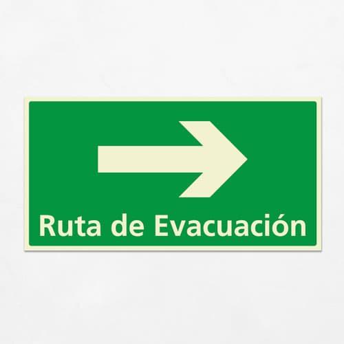 Señal Ruta de Evacuación VEH-14