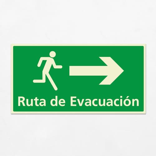 Señal Ruta de Evacuación VEH-16