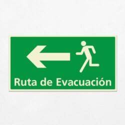 Señal Ruta de Evacuación VEH-17