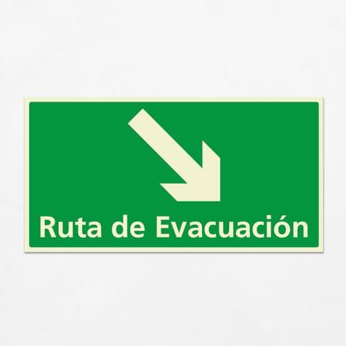 Señal Ruta de Evacuación VEH-18