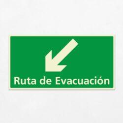 Señal Ruta de Evacuación VEH-19