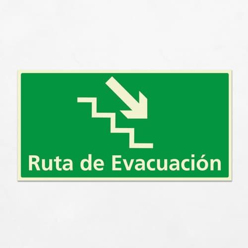 Señal Ruta de Evacuación VEH-20