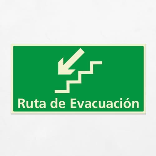 Señal Ruta de Evacuación VEH-21