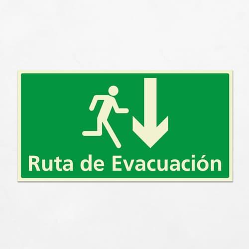 Señal Ruta de Evacuación VEH-22