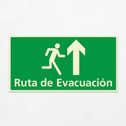 Señal Ruta de Evacuación VEH-23