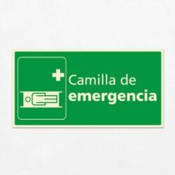 Señal Camilla de Emergencia H