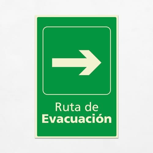 Señal Ruta de Evacuación VEV-01