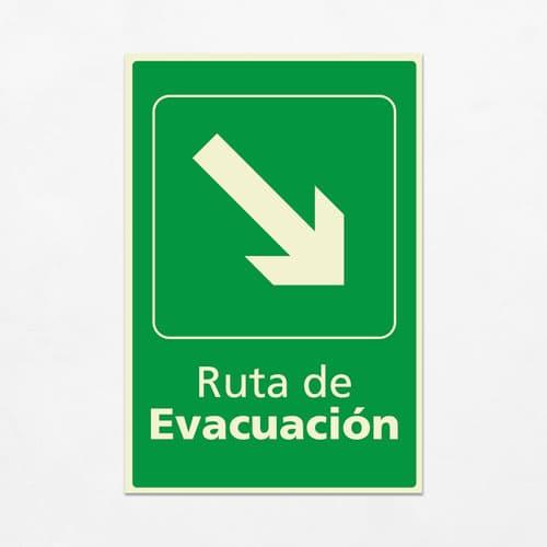 Señal Ruta de Evacuación VEV-03