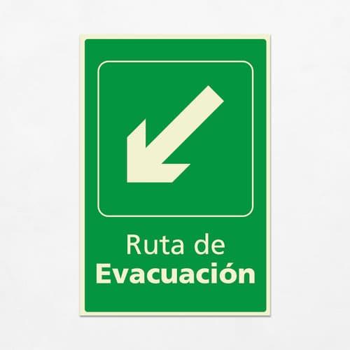 Señal Ruta de Evacuación VEV-04