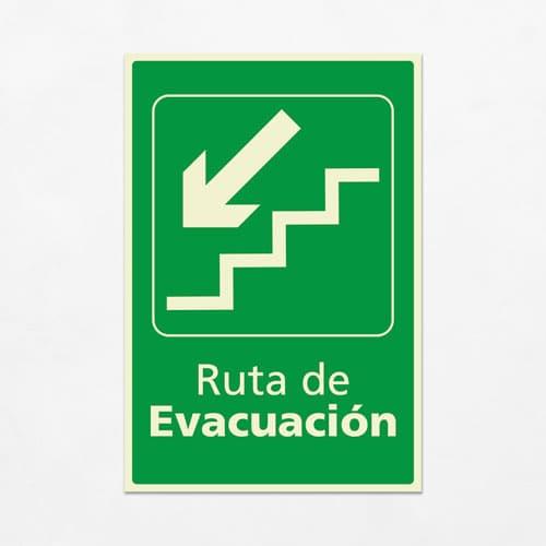 Señal Ruta de Evacuación VEV-06