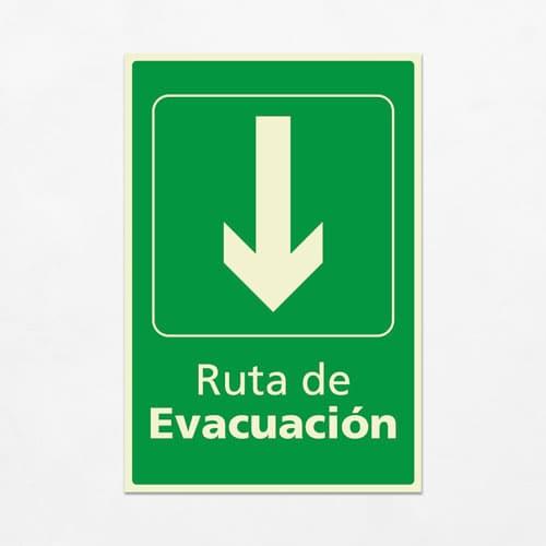 Señal Ruta de Evacuación VEV-07