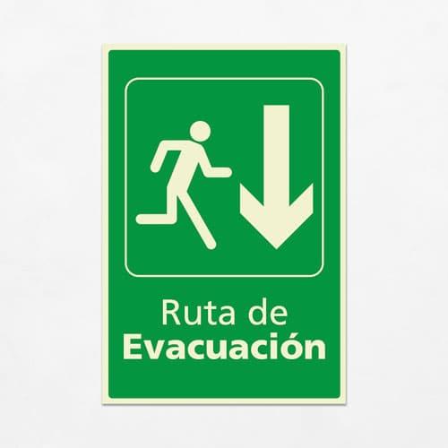 Señal Ruta de Evacuación VEV-09
