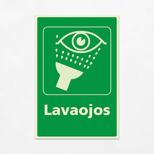 Señal Lavaojos V