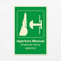 Señal Apertura Manual V