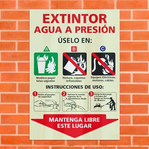 Señal Extintor Agua a Presión