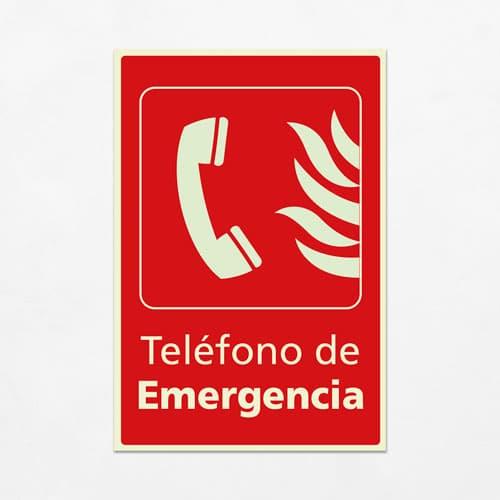 Señal Teléfono de Emergencia V