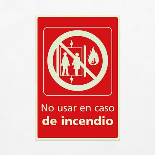 Señal No usar en Caso de Incendio V