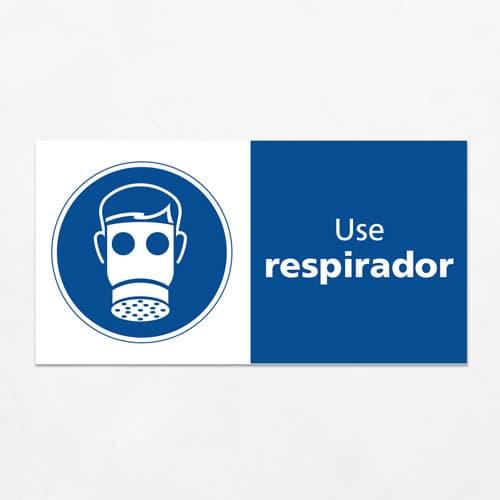 Señal Use Respirador H