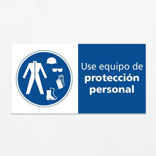 Señal Use Equipo de Protección Personal H