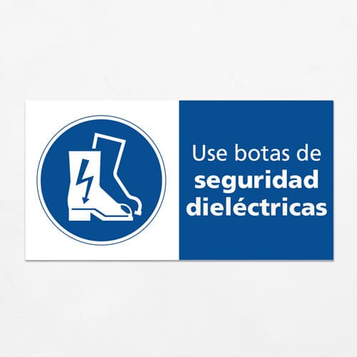 Señal Use Botas de Seguridad Dieléctricas H