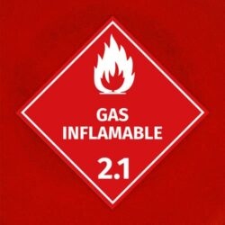 Señal Gas Inflamable 2.1