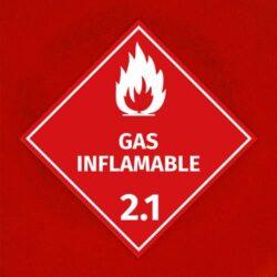 Señal Gas Inflamable 2.1
